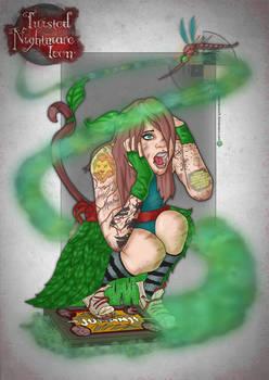 Jumanji girl twisted nightmare icon card
