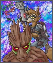 Jay Maverick DC MA Groot and rocket