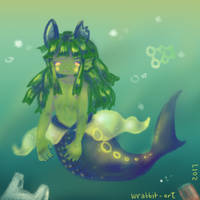 Garbage Mermaid (Polluted Mermimi) by thewrabbithole