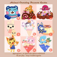 Animal Crossing Dessert Sticker Gacha (OPEN!) by thewrabbithole