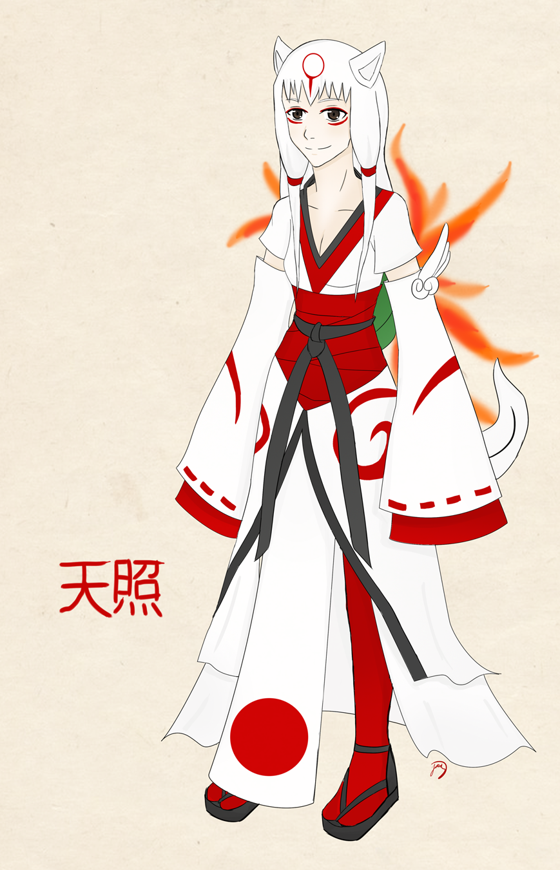 Amaterasu human form by JazzyOkami on DeviantArt