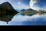 Pre-Made BG-Landscape Lake Fantasy by BlackfireInk