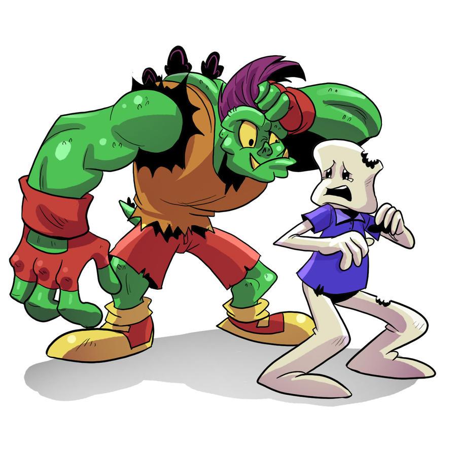 Mutargo and Marshmallow Kid by OptimusPraino