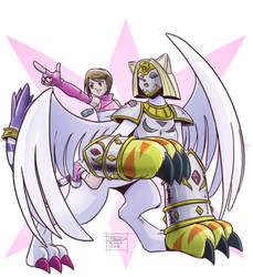 Kari and Nefertimon