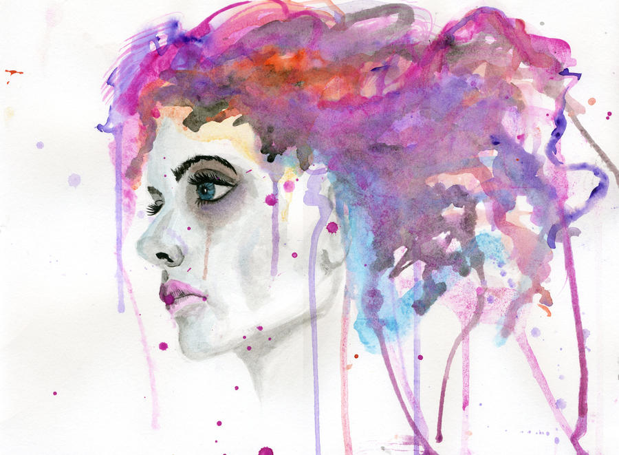 watercolor woman by cnigrelli185 on deviantart