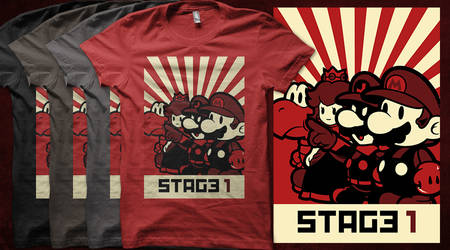 Stage 1 T-shirt by Negroud