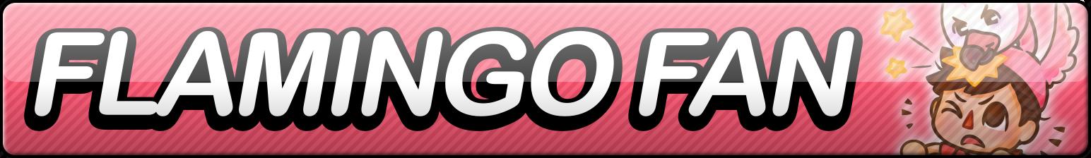 Flamingo Fan Button