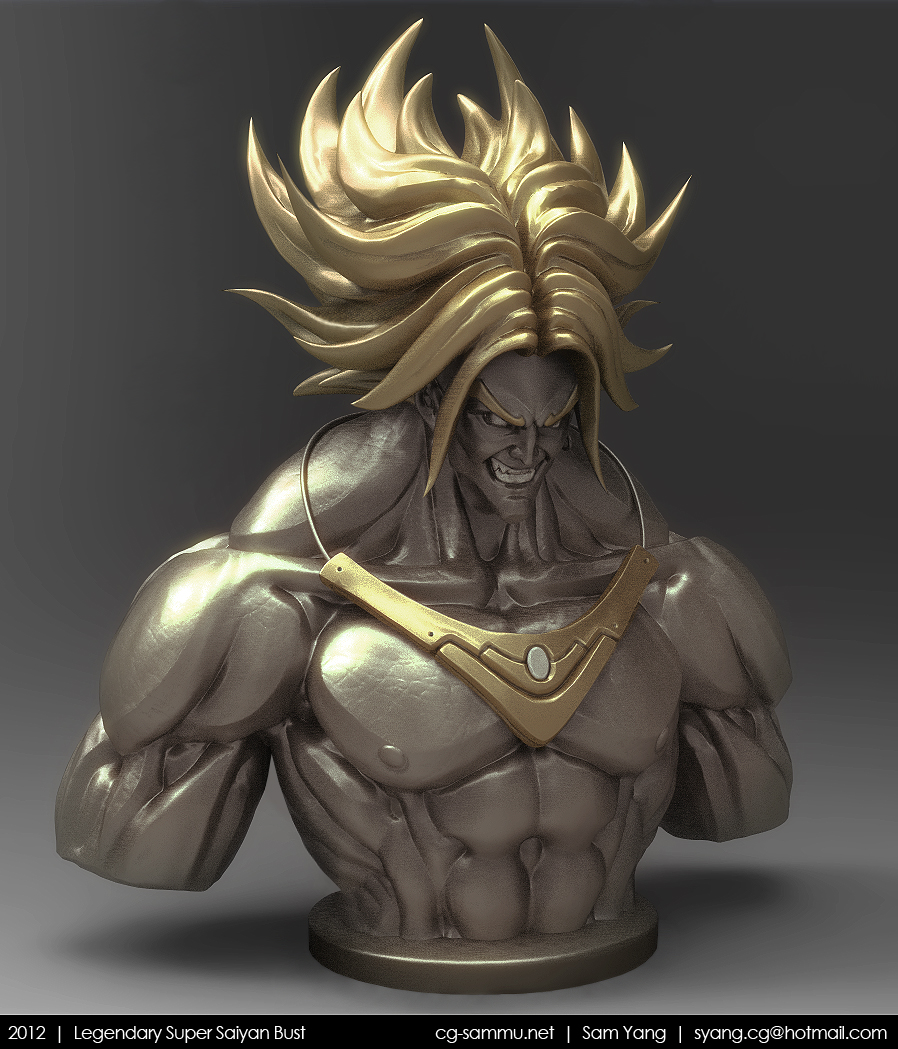 Legendary Super Saiyan Bust, Brolly 2012 by cg-sammu