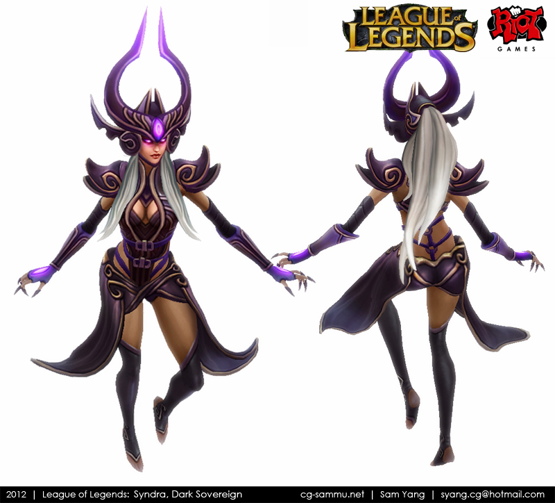 League of Legends: Syndra, The Dark Sovereign 2012 by cg-sammu