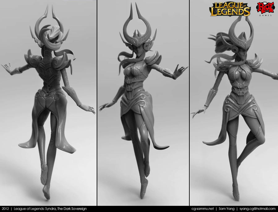 League of Legends: Syndra, The Dark Sovereign 2012 by cg-sammu