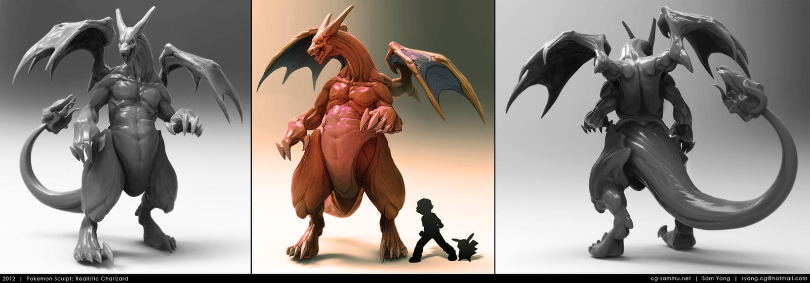 Pokemon Sculpt: Realistic Charizard 2012 by cg-sammu