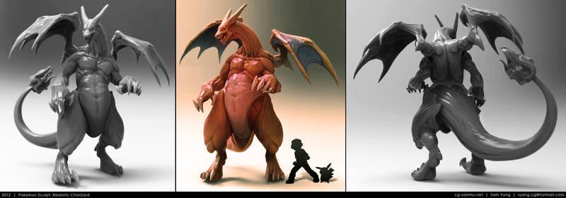 Pokemon Sculpt: Realistic Charizard 2012