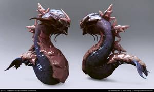 Pokemon Sculpt: Realistic Gyarados 2013 by cg-sammu