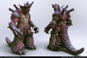 Pokemon Sculpt: Realistic Nidoking 2013 by cg-sammu