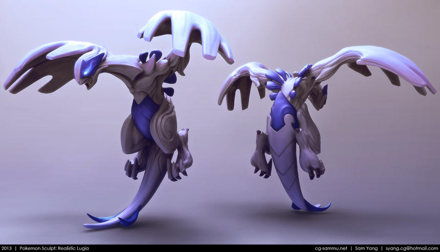 Pokemon Sculpt: Realistic Lugia 2013 by cg-sammu