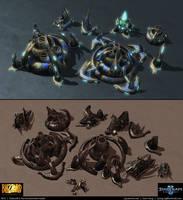 Starcraft II: Aiur Environment Assets 2013 by cg-sammu