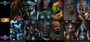 Starcraft II: Mercenary Storymode Portraits 2013