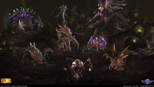 Starcraft II: Leviathan Evolution Chamber 2013 by cg-sammu