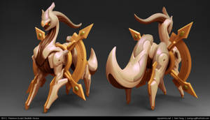 Pokemon Sculpt: Realistic Arceus 2013 by cg-sammu