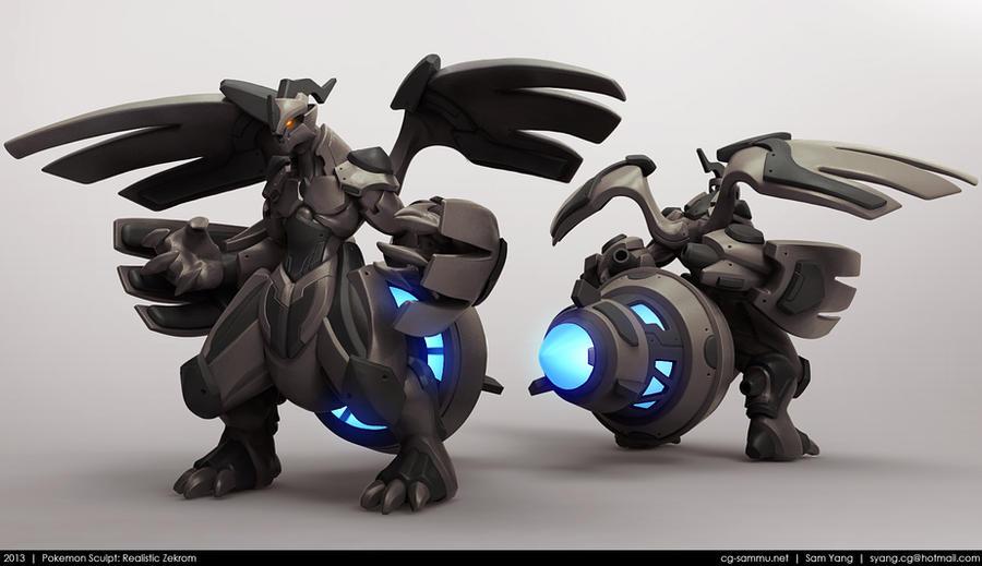 Pokemon Sculpt: Realistic Zekrom 2013