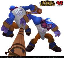 League of Legends: Baseball Trundle 2013 by cg-sammu