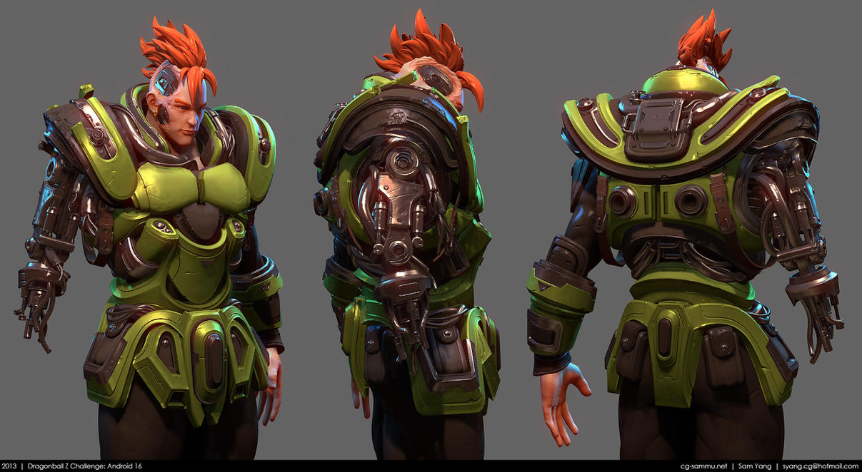 Dragonball Z Challenge: Android 16 WIP by cg-sammu