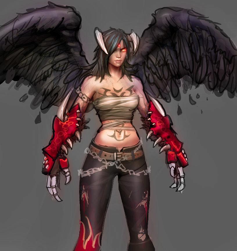 Female Devil Jin WIP by cg-sammu on DeviantArt