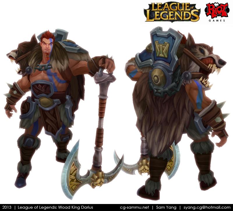 League of Legends: Woad King Darius 2013 by cg-sammu