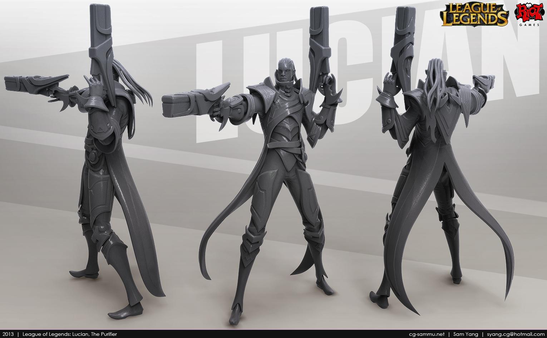 League of Legends: Lucian, The Purifier 2013 by cg-sammu