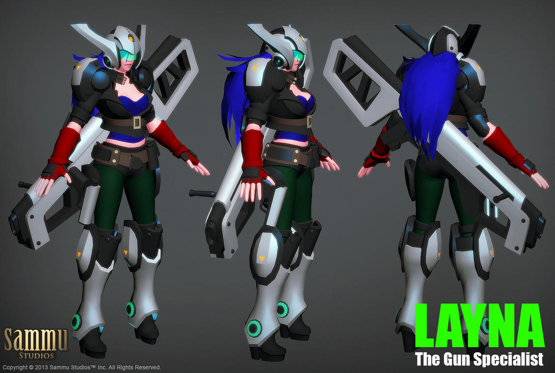 Layna Model, Work in Progress by cg-sammu