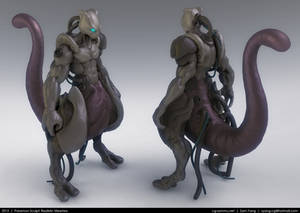 Pokemon Sculpt: Realistic Mewtwo 2013