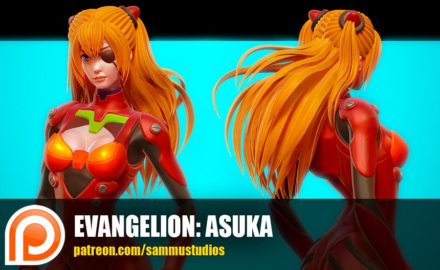 Evangelion: Asuka by cg-sammu