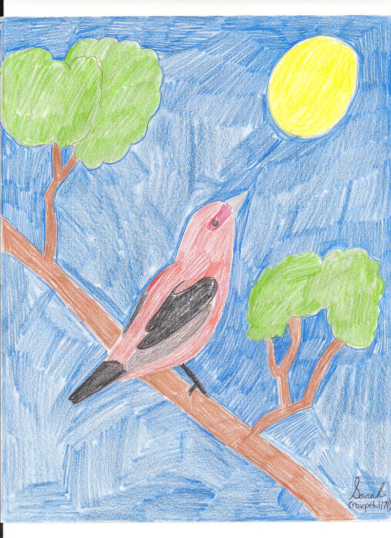 Scarlet Tanger by rosepetal179