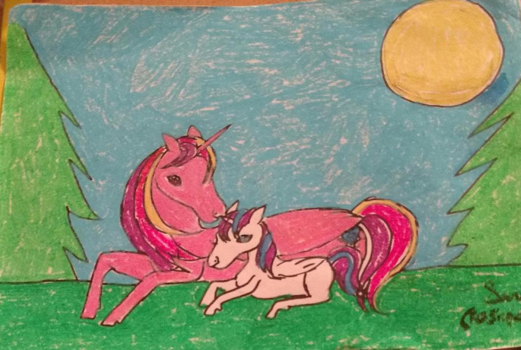 Princess Cadence and Flurry Heart by rosepetal179