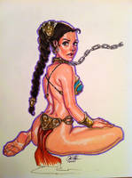 Slave Leia by Rvalenzuela80