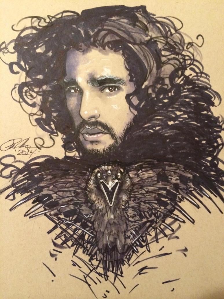 Jon Snow Portrait by Rvalenzuela80