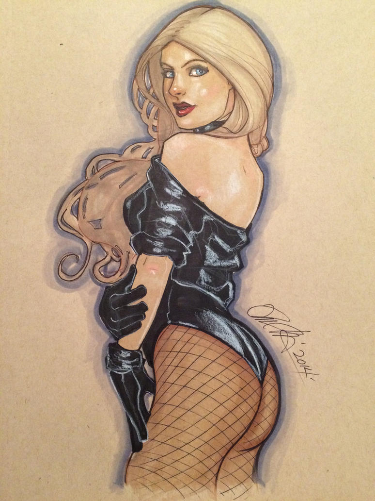Black Canary pinup by Rvalenzuela80