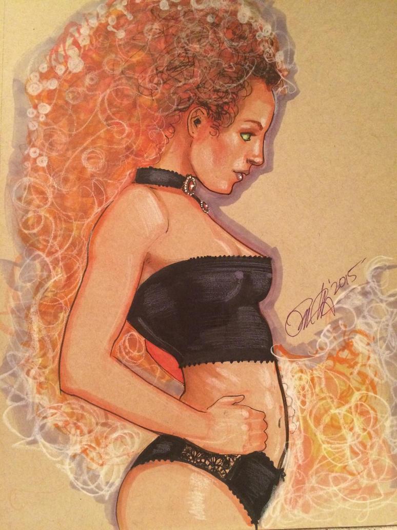 Starfire in Black by Rvalenzuela80