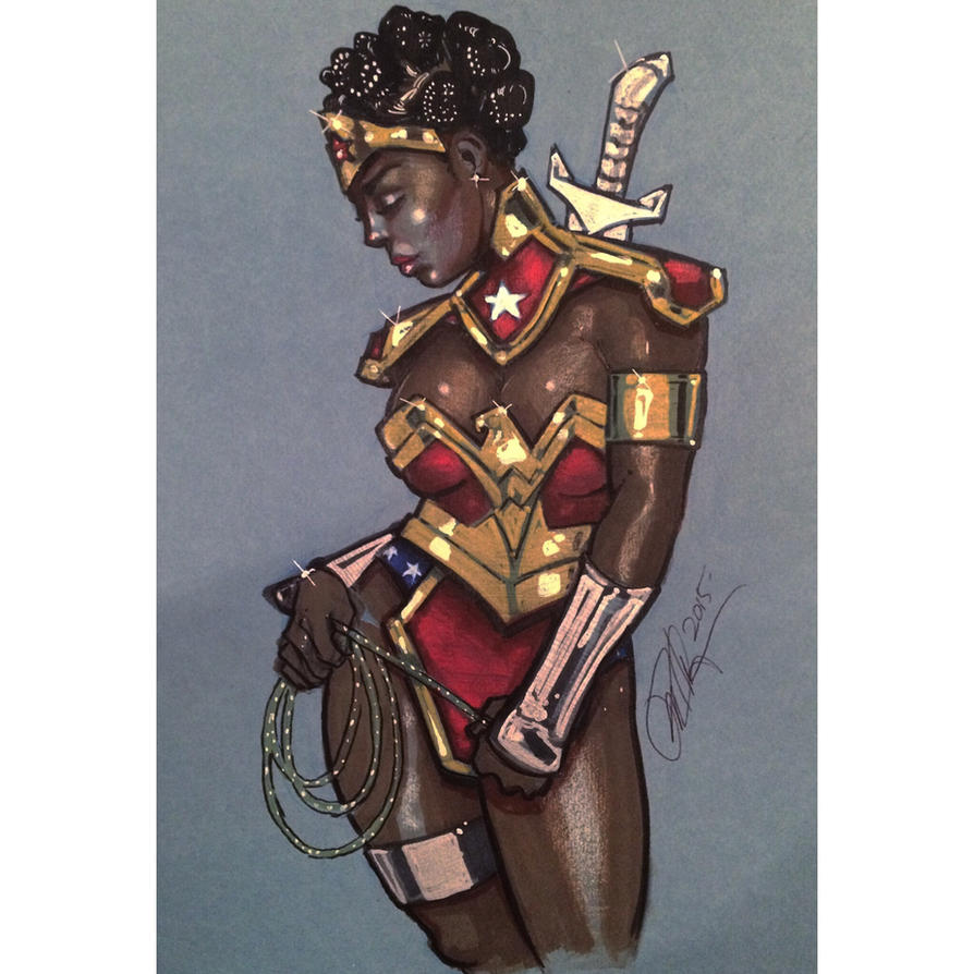 Nubia- Wonder Woman  by Rvalenzuela80