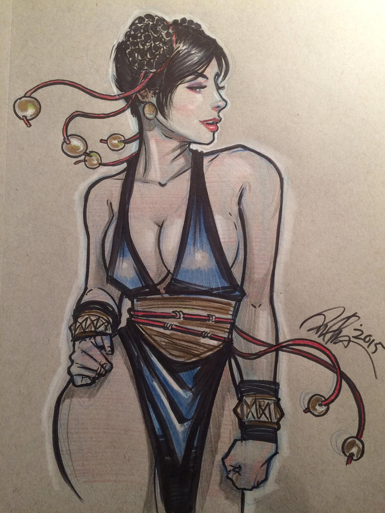 Chun Li in alternate outfit. by Rvalenzuela80