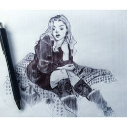 Scribbles with a pen