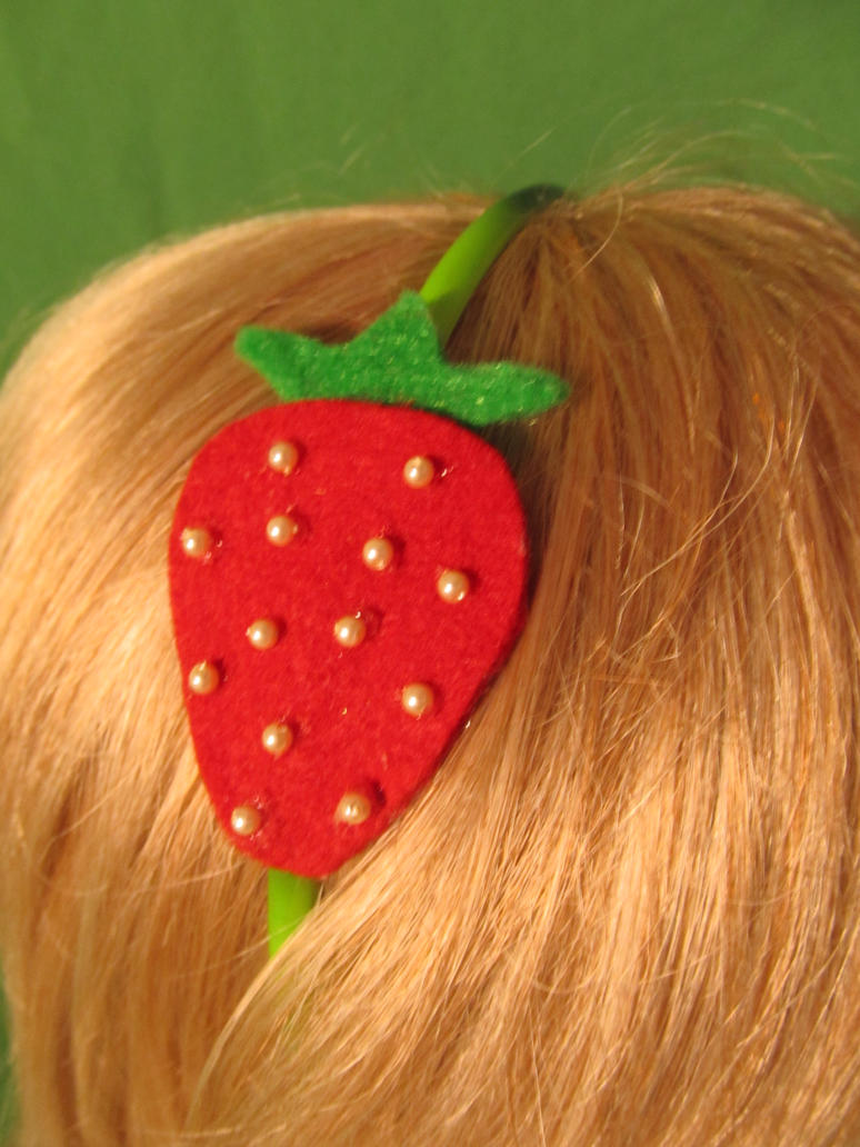 FOR SALE Strawberry Headband by Ringo-Chu