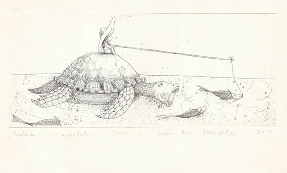 Bestiar etching by TheOtherShiroki