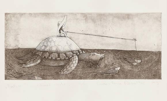 Bestiar aquatint by TheOtherShiroki