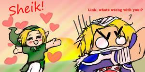 Valentines day- LinkxSheik by Astatos-Luna
