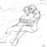 Link and male sheik cuddle request