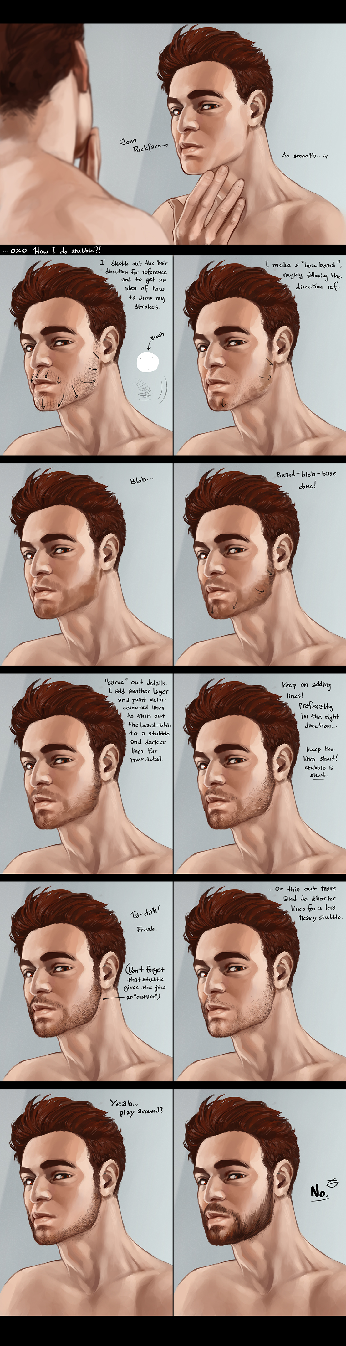 130722 How you do stubble?! (tutorial-ish) by Uzlo