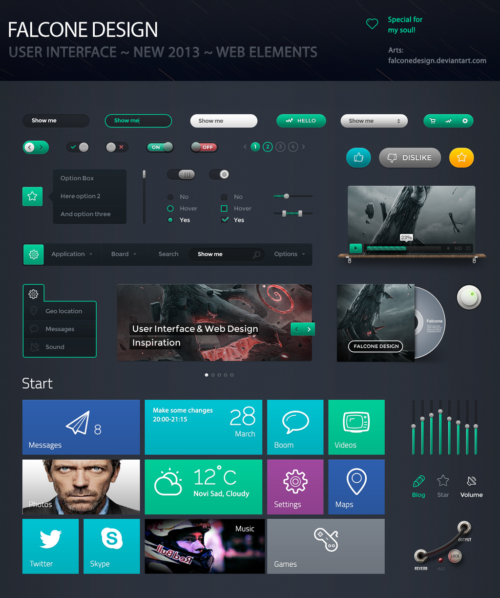 modern ui kit webdesign ideas falconedesign by falconedesign - Ui Design Ideas