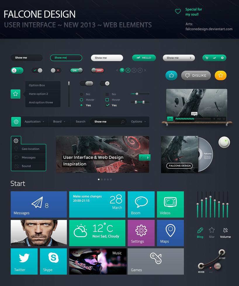 Modern UI Kit + WebDesign Ideas ~ FalconeDesign by FalconeDesign on ...