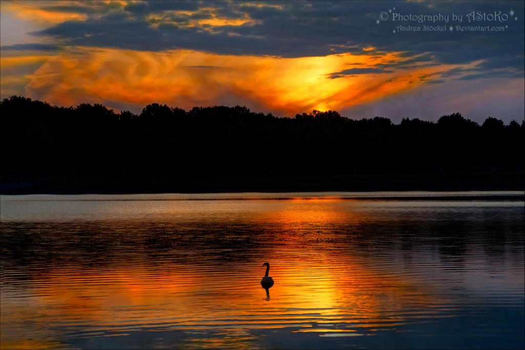 Quite alone ~ sunset by AStoKo